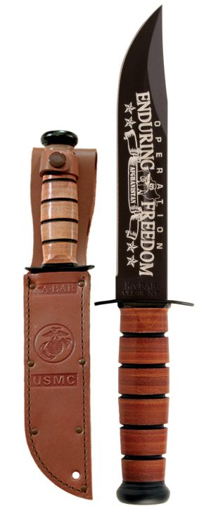 KA-BAR-OEF Afghanistan USMC Knife MADE IN USA