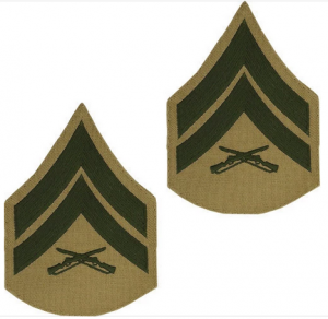 Chevron-USMC Khaki-Male