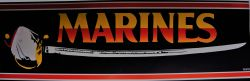 Bumper Sticker-Marines With Sword