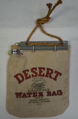 VINTAGE Desert Water Bag With Mounting Bracket and rope