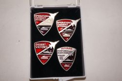 Commemorative Operation Desert Storm/ Desert Shield/Desert Victory Hat Pin Set