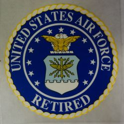 Decal-United States Air force Retired