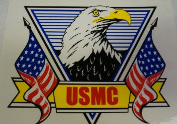 Decal-USMC With Eagle