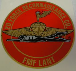 Decal-2D Force Recon co. FMF LANT