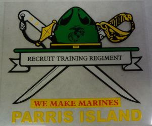 Decal-Parris Island We Make Marines