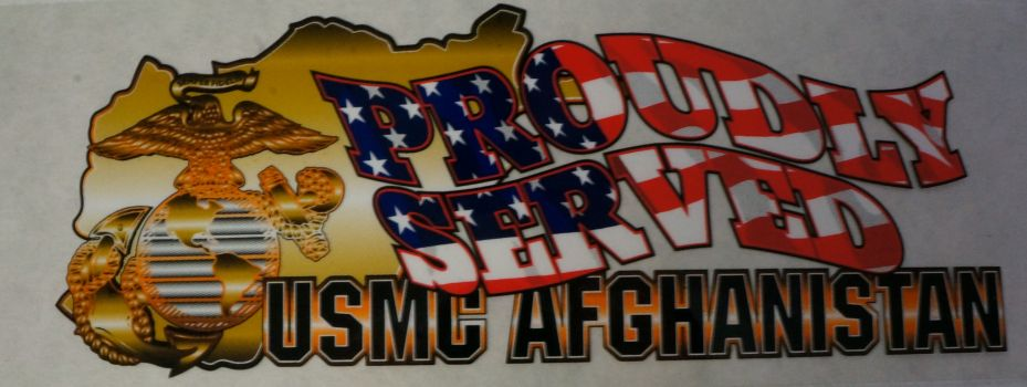 Decal-Proudly Served-USMC Afghanistan