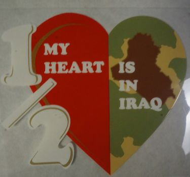 Decal-1/2 My Heart Is In Iraq