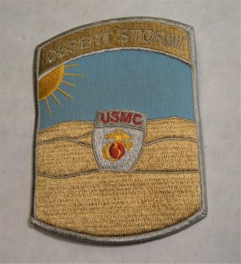 Patch-Desert Storm with USMC Shield