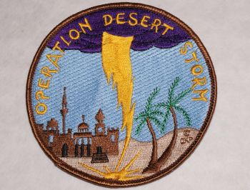 Patch- Operation Desert Storm with Lightning Bolt