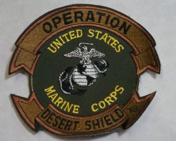Patch- Operation Desert Shield with USMC and EGA