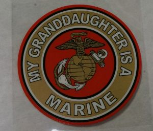 Decal-My Granddaughter Is a Marine
