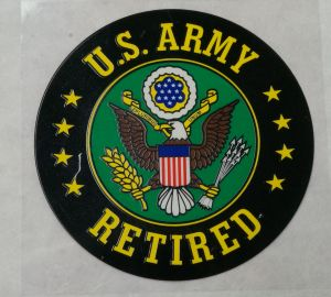 Decal-U.S. ARMY Retired