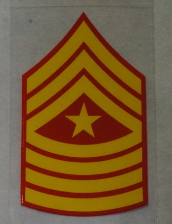 Decal-Sgt. Maj. Rank