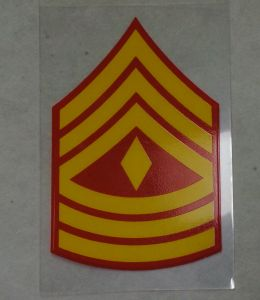 Decal-1st Sgt Rank