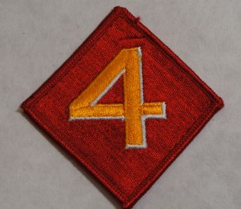 Patch- 4th Marine Division Red and Gold