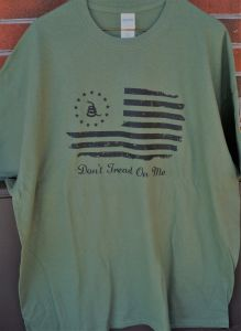 T-Shirt Don't Tread On Me Olive Drab
