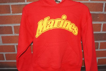 Youth Marines Red Hoodie