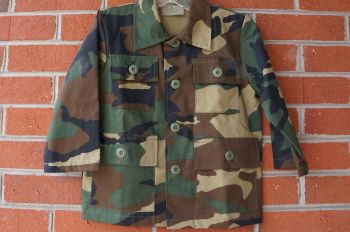 Kids-Woodland Camoflauge Four Pocket Shirt