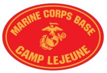 Magnet-Marine Corps Base Camp Lejeune Oval