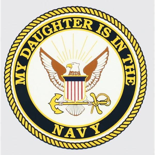 Decal-My daughter Navy