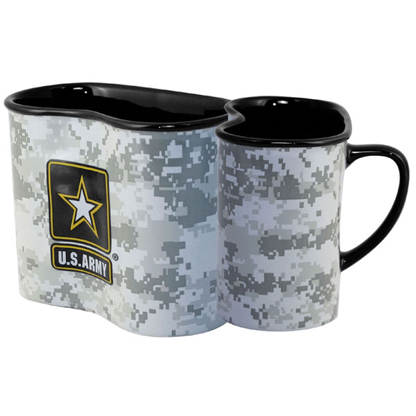 "Coffee Cup-Digital ACU ""Canteen Cup"" Mug With 3D Army Star"