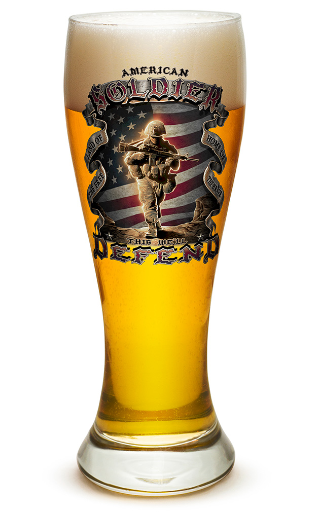 PILSNER GLASS-American Soldier 23oz