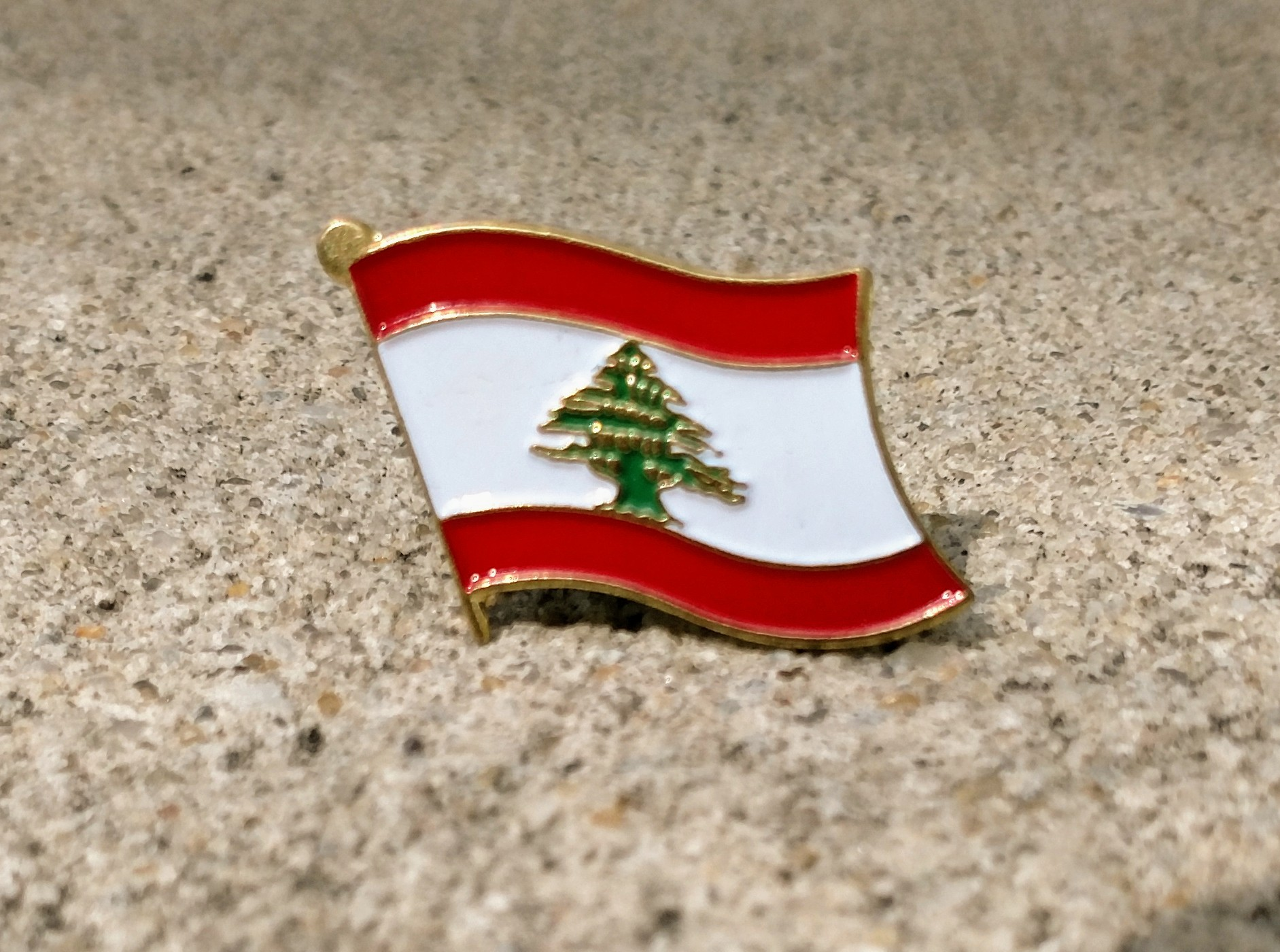 NEW Beirut Lebanon flag hat pin