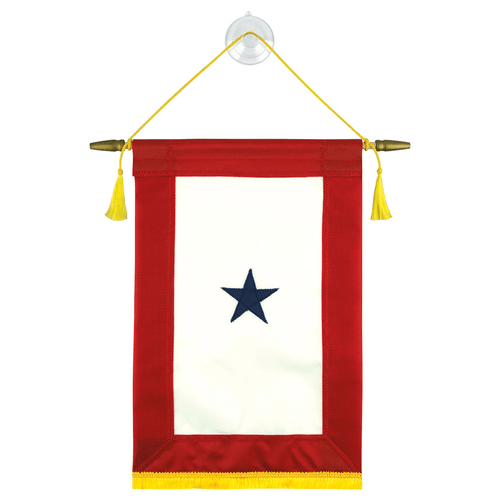 Blue Star Banner with Suction Cup