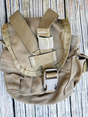USED USMC-1 Qt Canteen Pouch/General Purpose Pouch Coyote **Call 910-347-3520 for pricing and availability**
