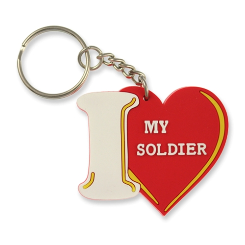 KEY CHAIN-I LOVE MY SOLDIER