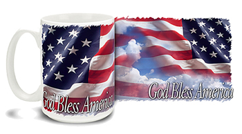 Coffee Cup- God Bless America