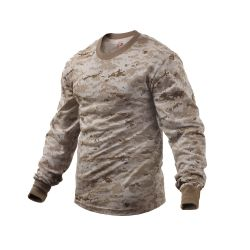 Long Sleeve T-Shirt Digital Desert Or ACU