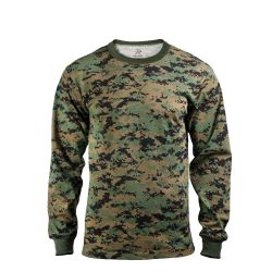 Long Sleeve T-Shirt Digital Woodland