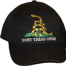 Cap-Don't Tread On Me-Choose Black, Yellow, or Khaki
