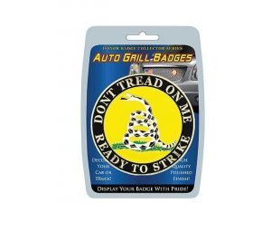 Grill Badge-Don't Tread on Me Ready To Strike