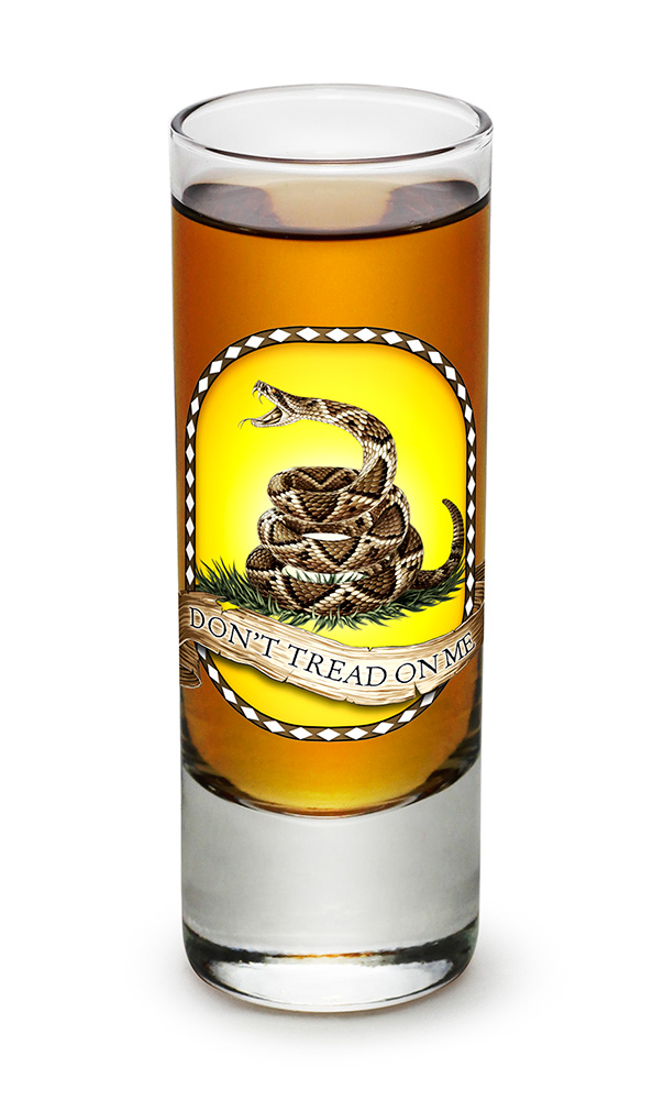 SHOT GLASS-Don't Tread On Me 2.5oz