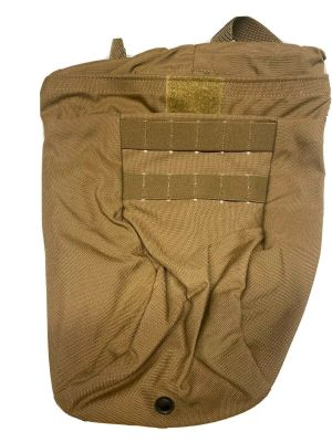 USED USMC-Magazine Dump Pouch With Barrel Lock Coyote Brown **Call 910-347-3520 for pricing and availability**