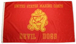 3'x5' USMC Devil Dog Flag