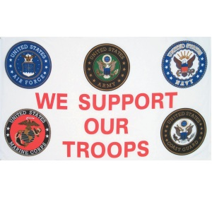 3'x5' We Support Our Troops Flag/All Services