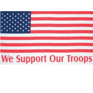 3'x5' We Support Our Troops/USA Flag