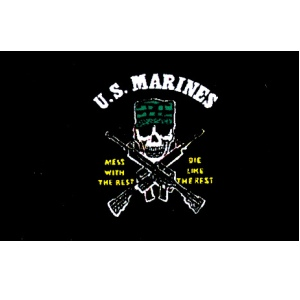 3'x5' USMC Mess With The Best Flag
