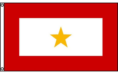 Gold Star Service Flag 3'x5'
