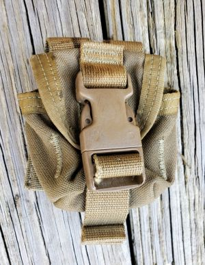 USED USMC-M67 Frag Grenade Pouch Coyote **Call 910-347-3520 for pricing and availability**