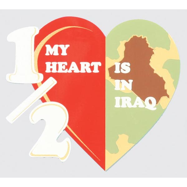 Decal-Half My heart/ Iraq