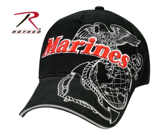 Cap-Black with Red Marines and Gray EGA