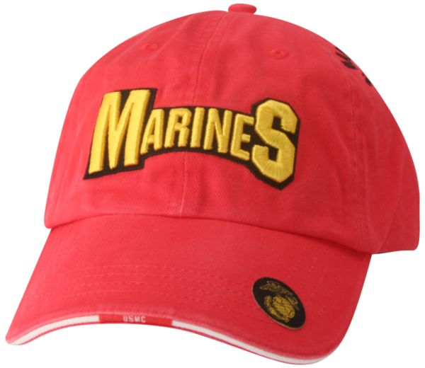 Cap-Red with Marines in Gold and Black