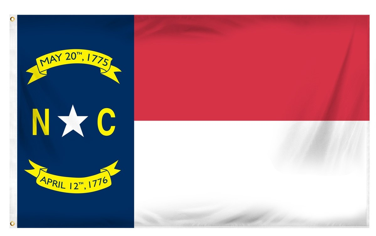 North Carolina Flag 3'X5' Made in USA