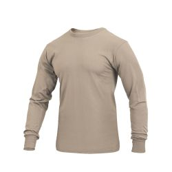 Long Sleeve T-Shirt Solid Tan