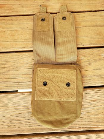 NEW USMC- MOLLE Saw Pouch/ Dump Pouch With Detachable Top Coyote