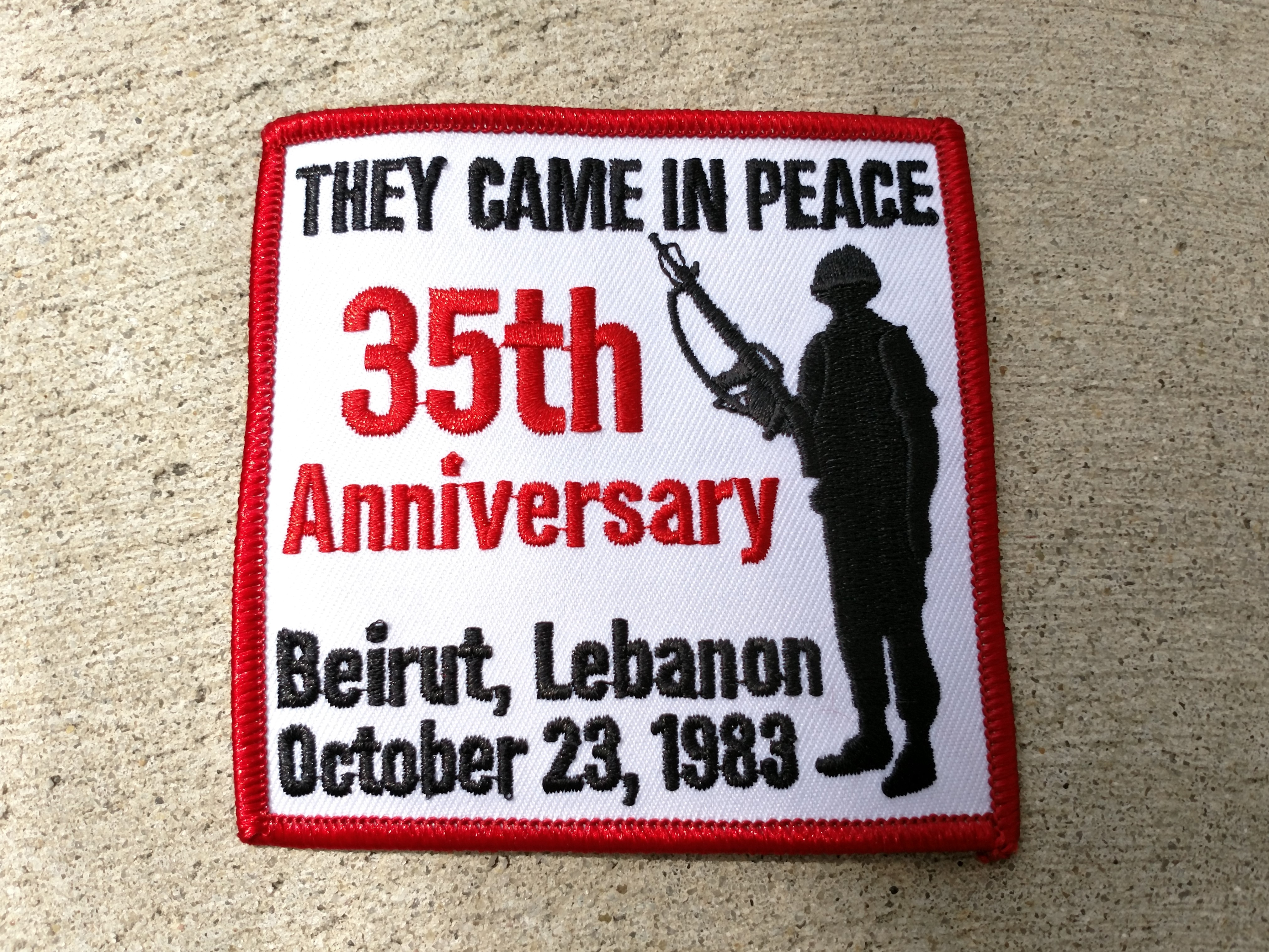 Beirut They Came in Peace 35th Anniversary Patch